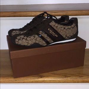 NEW Coach Remonna Signature C/Patent Sneaker
